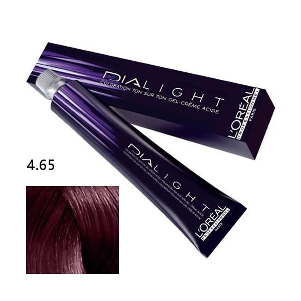 Loréal Dialight Přeliv na vlasy 50ml - odstín 4.65 hnědá