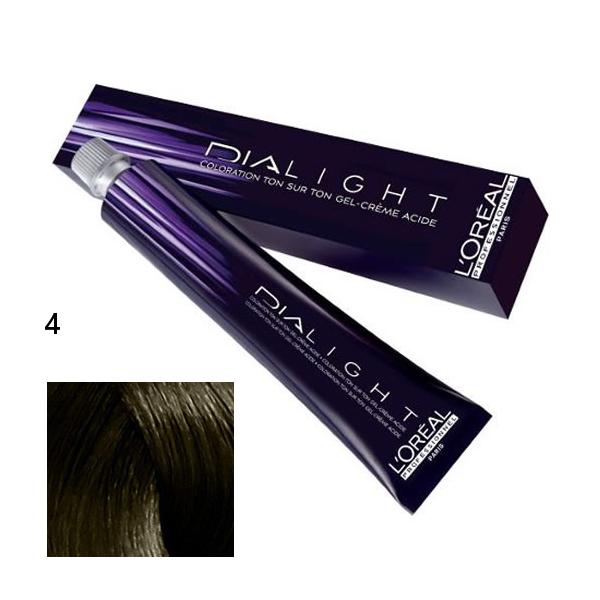 Loréal Dialight Přeliv na vlasy 50ml - odstín 4 hnědá
