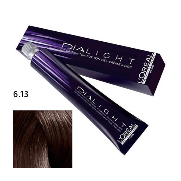 Loréal Dialight Přeliv na vlasy 50ml - odstín 6.13 blond