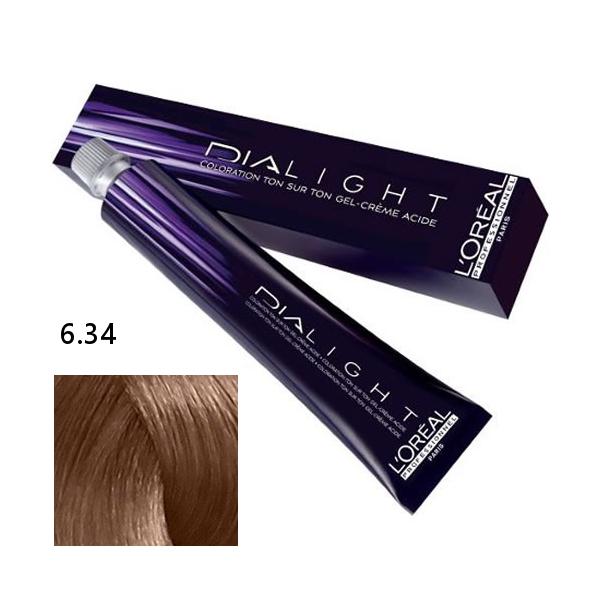 Loréal Dialight Přeliv na vlasy 50ml - odstín 6.34 blond