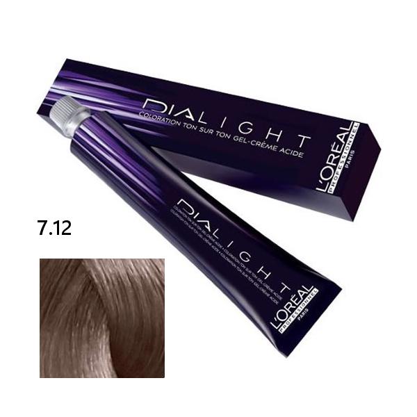 Loréal Dialight Přeliv na vlasy 50ml - odstín 7.12 blond