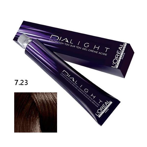 Loréal Dialight Přeliv na vlasy 50ml - odstín 7.23 blond
