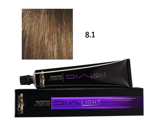 Loréal Dialight Přeliv na vlasy 50ml - odstín 8.1 popelavá blond