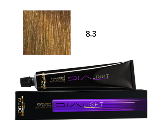 Loréal Dialight Přeliv na vlasy 50ml - odstín 8.3 zlatá blond