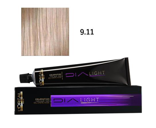 Loréal Dialight Přeliv na vlasy 50ml - odstín 9.11 popelavá
