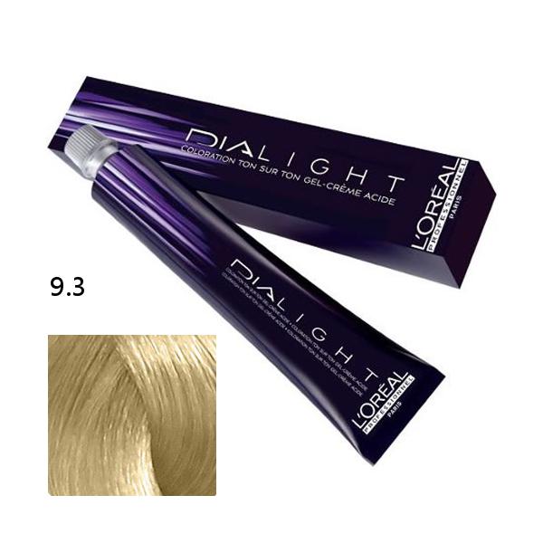 Loréal Dialight Přeliv na vlasy 50ml - odstín 9.3 světlá blond