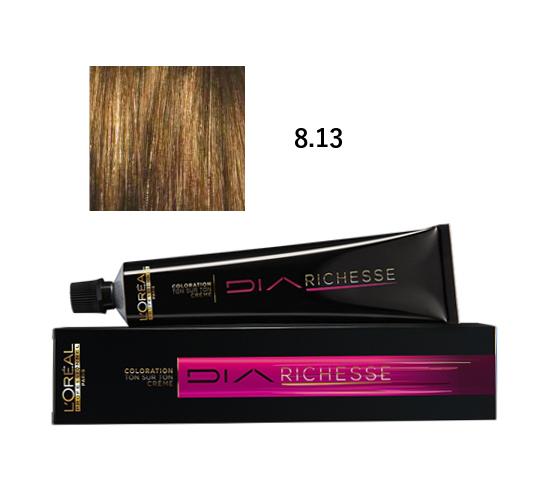 Loréal Diarichesse Přeliv na vlasy 50ml - odstín 8.13 popelavá