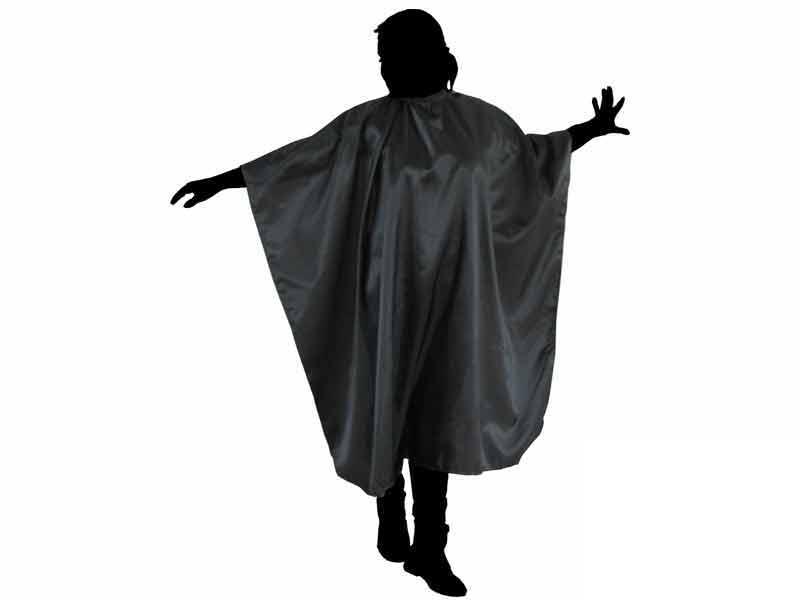 Kadeřnická pláštěnka na stříhání Duko 599 - černá