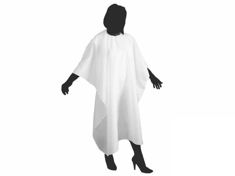 Kadeřnická pláštěnka na stříhání Duko 599 - bílá
