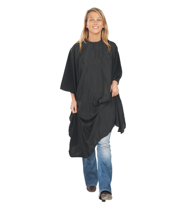 Kadeřnická pláštěnka na barvení vlasů Economyss 3 Sibel - černá (573000002) + DÁREK ZDARMA