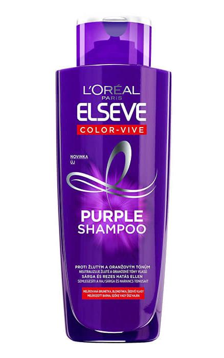 Šampon pro neutralizaci žlutých tónů Loréal Elseve Purple Shampoo - 200 ml