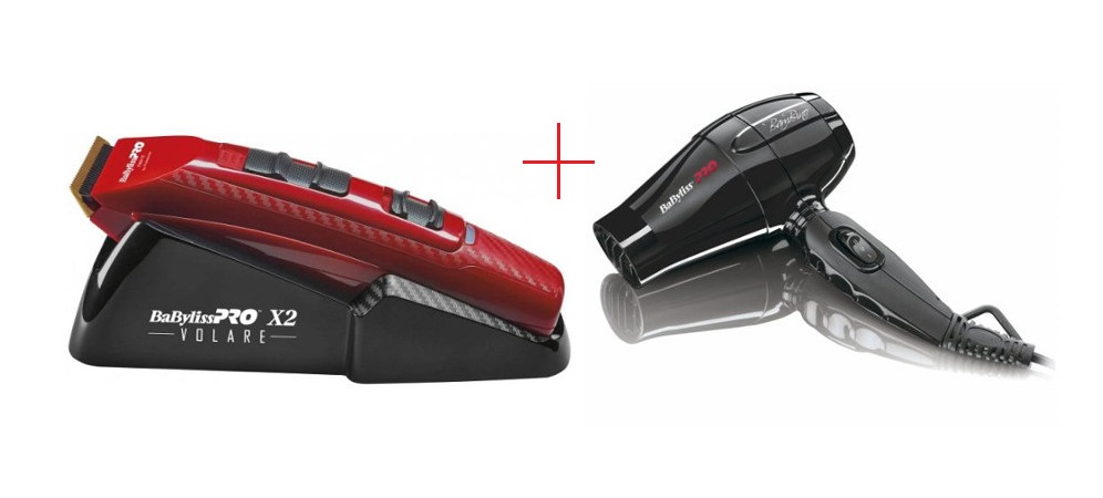Strojek na vlasy X2 FERRARI červený + fén Pro Bambino ZDARMA (FX811RE, BAB5510E) - BaByliss Pro + DÁREK ZDARMA