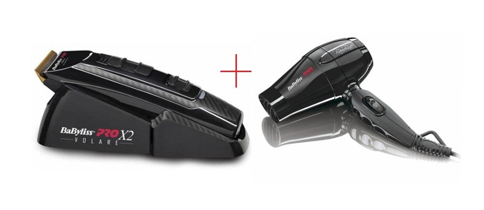 Strojek na vlasy X2 FERRARI černý + fén Pro Bambino ZDARMA (FX811E, BAB5510E) - BaByliss Pro + DÁREK ZDARMA