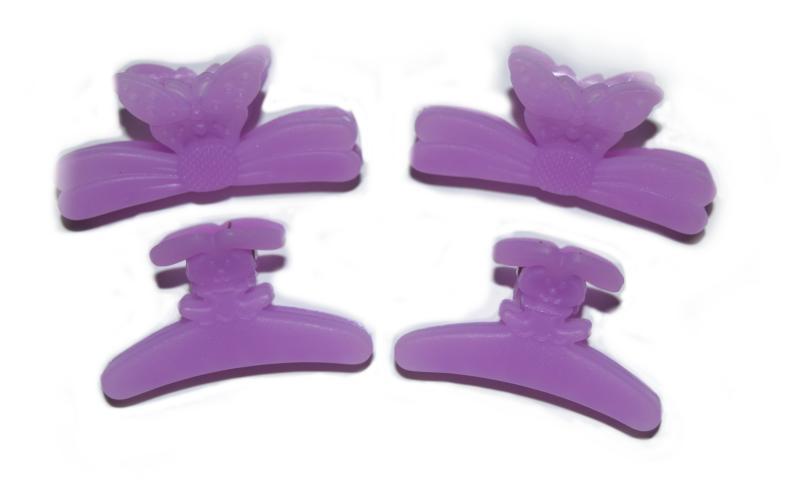 Plastový skřipec do vlasů Duko 1283 střední - lila (1283 - purple)