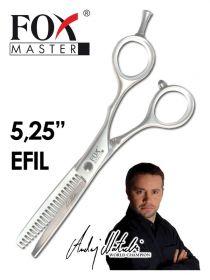 """Nůžky kadeřnické Fox Master 5.25"""" Efilační + DÁREK ZDARMA"""