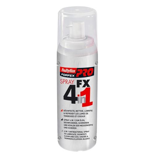 Babyliss Pro Dezinfekční a promazávací sprej FX 4v1 - 150 ml (FX040290)