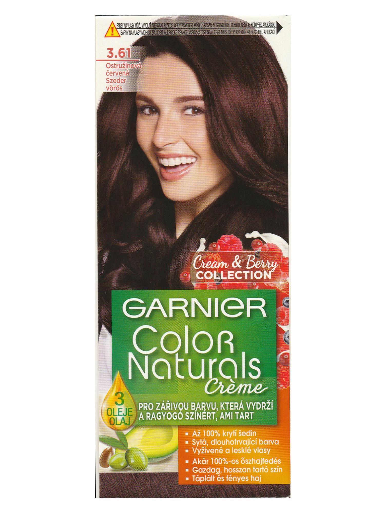 Permanentní barva Garnier Color Naturals 3.61 ostružinová červená