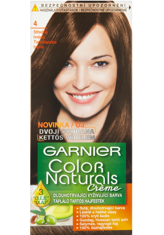Permanentní barva Garnier Color Naturals 4.0 středně hnědá