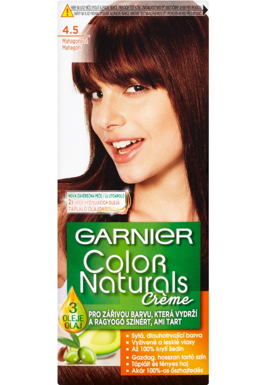 Permanentní barva Garnier Color Naturals 4.5 mahagonová
