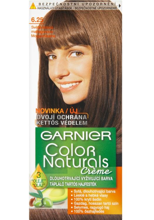 Permanentní barva Garnier Color Naturals 6.25 světlá ledová mahagonová