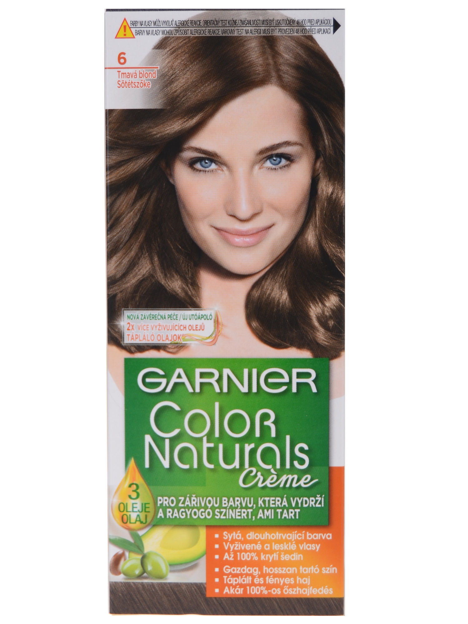 Permanentní barva Garnier Color Naturals 6 tmavá blond f243ca1ab49