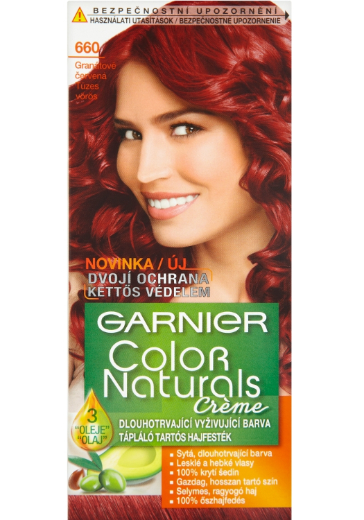 Permanentní barva Garnier Color Naturals 600 granátově červená