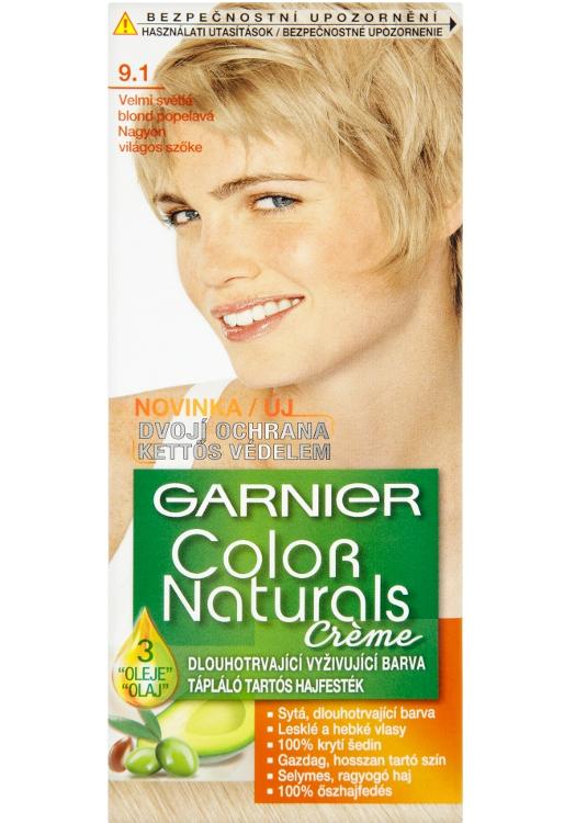 Permanentní barva Garnier Color Naturals 9.1 velmi světlá blond popelavá