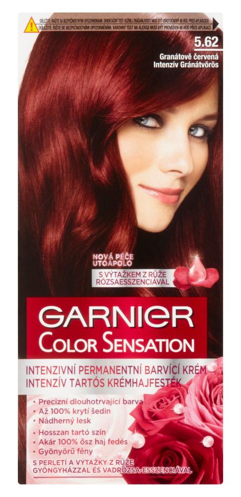 Permanentní barva Garnier Color Sensation 5.62 granátově červená