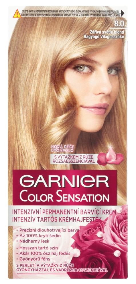 Permanentní barva Garnier Color Sensation 8.0 zářivá světlá blond