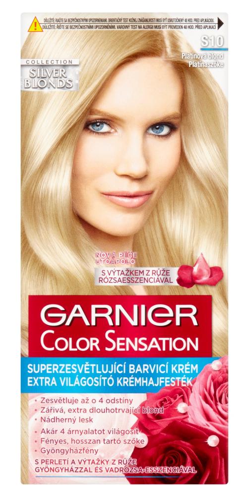 Superzesvětlující barva Garnier Color Sensation S10 platinová blond