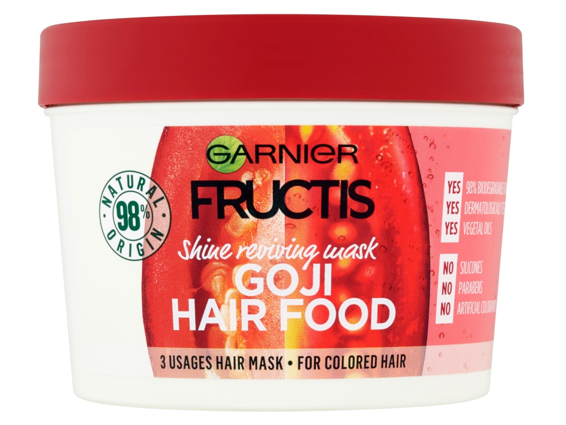 Vyživující maska na barvené vlasy Garnier Fructis Goji Hair Food - 390 ml