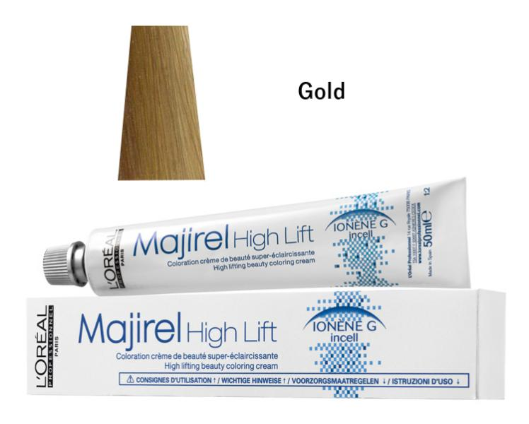 Majirel High Lift zesvětlující barva na vlasy 50 ml - Gold - Loréal Professionnel + DÁREK ZDARMA