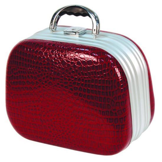 Dámský kosmetický kufřík Hairway krokodýlí kůže - červený (28553-17) + DÁREK ZDARMA