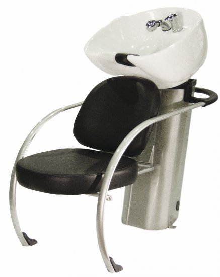 Kadeřnický mycí box Hairway New York II, černý/bílá mísa (57002-YD29) + DÁREK ZDARMA