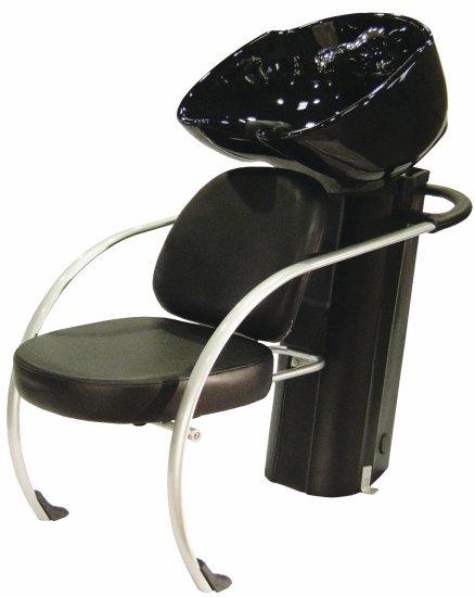 Kadeřnický mycí box Hairway New York II - černý/černá mísa (57001-YD29) + DÁREK ZDARMA