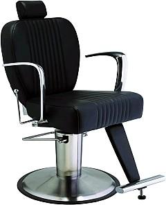 Kadeřnické pánské křeslo Hairway LORD - černé (56723-YD29) + DÁREK ZDARMA