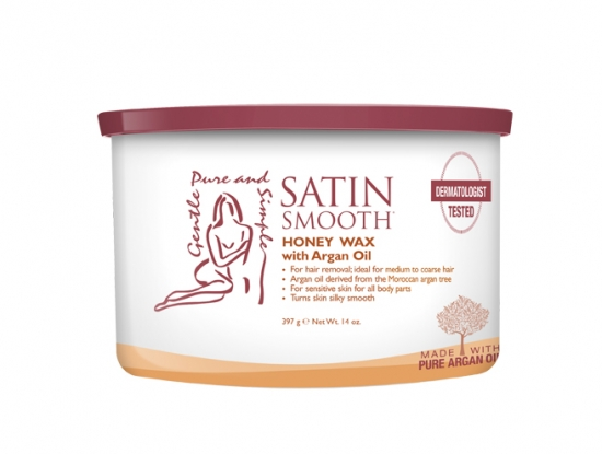 Satin Smooth depilační vosk med, arganový olej - 397 g (SSW14HAG) + DÁREK ZDARMA