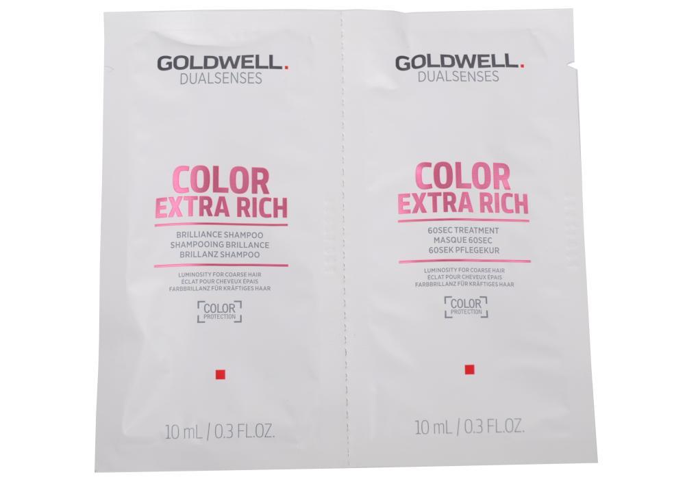 Goldwell Color Extra - šampon, kondicionér barvené - 2x10 ml (205534, 206176)