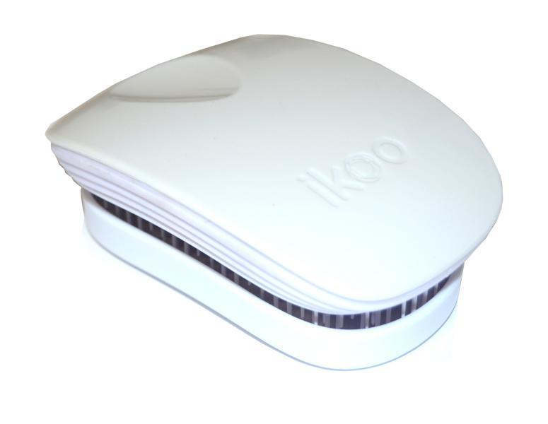 Cestovní kartáč na vlasy Ikoo Pocket Classic White - bílý + DÁREK ZDARMA