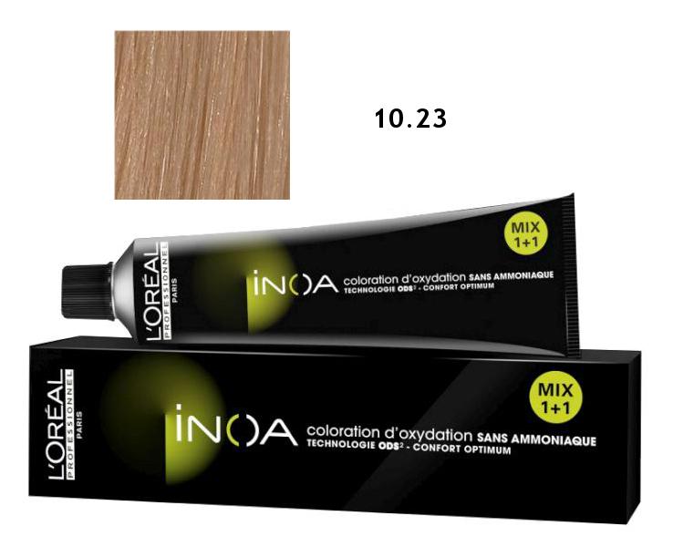 Loréal Inoa 2 barva na vlasy 60 g - odstín 10,23 platinová blond (10.23)