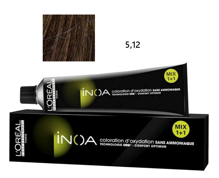 Loréal Inoa 2 barva na vlasy 60 g - odstín 5,12 HR hnědá popelavá