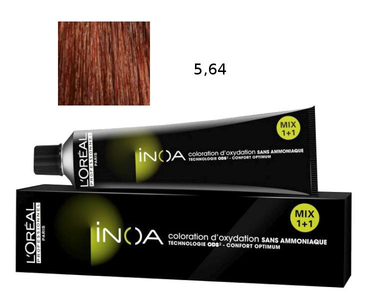 Loréal Inoa 2 barva na vlasy 60 g - odstín 5,64 rubínová (Rubilane)