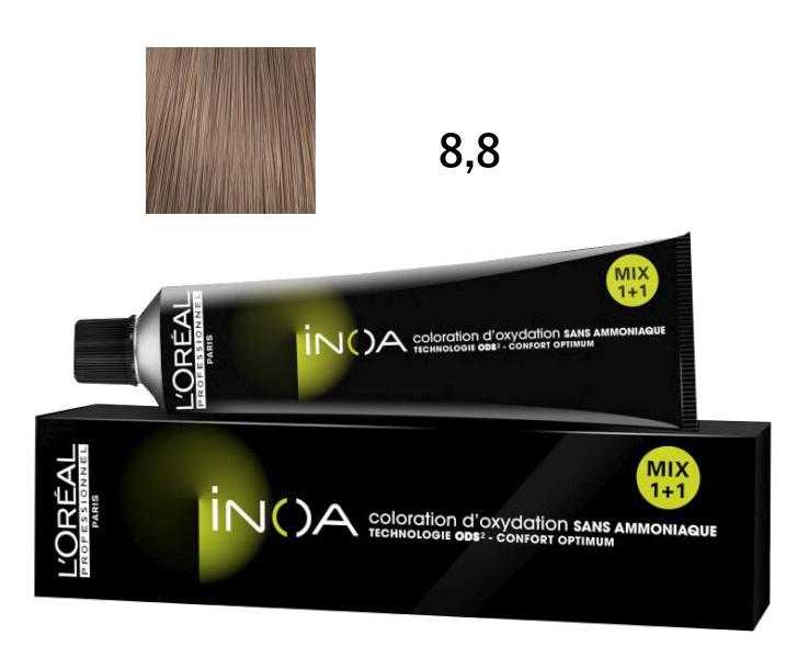 Loréal Inoa 2 barva na vlasy 60 g - odstín 8,8 blond mokka