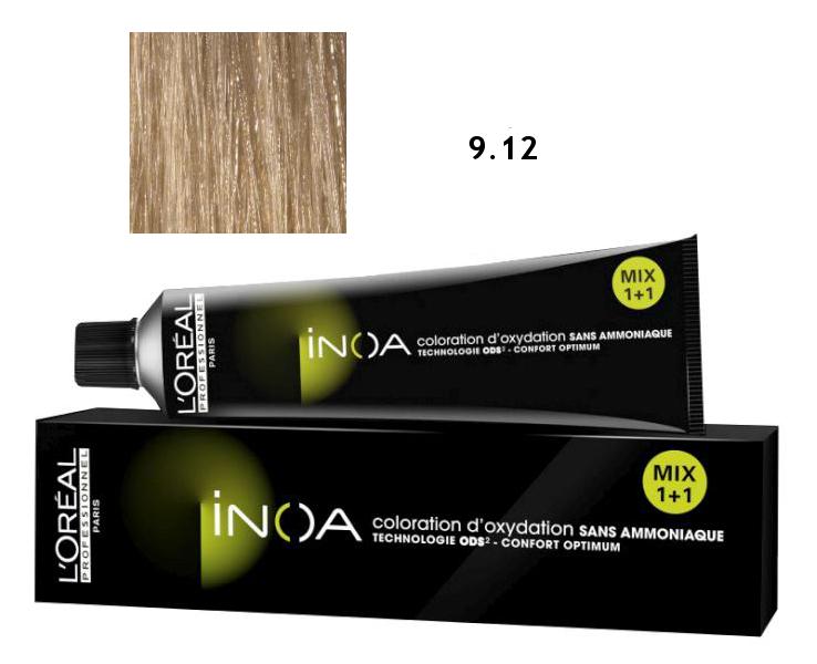 Loréal Inoa 2 barva na vlasy 60 g - odstín 9,12 jasná blond (9.12)