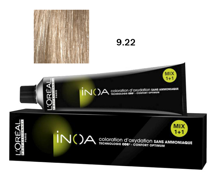 Loréal Inoa 2 barva na vlasy 60 g - odstín 9,22 jasná blond (9.22)