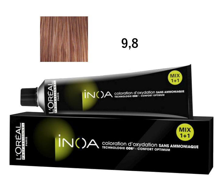 Loréal Inoa 2 barva na vlasy 60 g - odstín 9,8 blond mokka