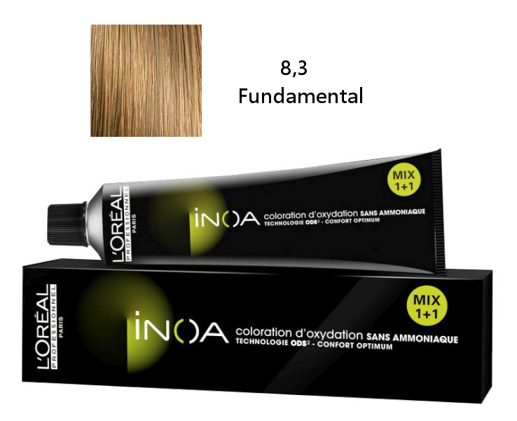 Loréal Inoa 2 barva na vlasy 60 g - odstín 8,3 Fundamental blond