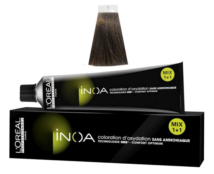 Loréal Inoa 2 barva na vlasy 60 g - odstín 6.0