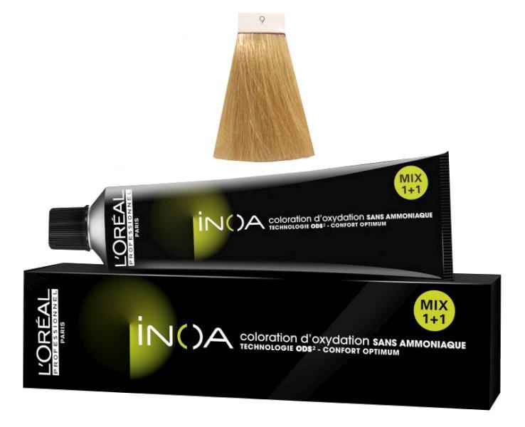 Loréal Inoa 2 barva na vlasy 60 g - odstín 9, velmi světlá blond