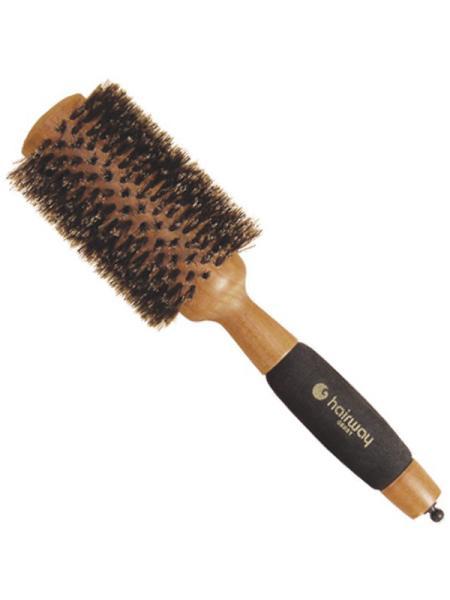 Dřevěný kartáč s kančími štětinami a pěn. rukojetí Hairway - a #8960; 36 mm (06051)